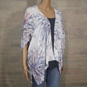 Aeropostale Floral Feather One Size Kimono Jacket